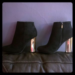 Bamboo black & gold boots